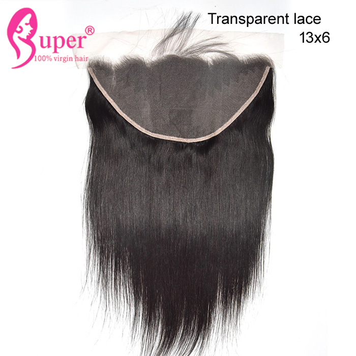 Raw Virgin Brazilian Body Wave Hair Extension 100% Human Pre Plucked 13 x 6  Lace Frontal Closure