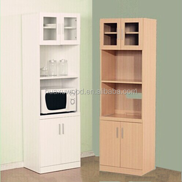 White Kitchen Microwave Storage Rack