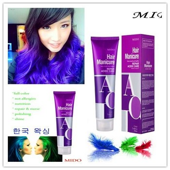 Korea Imported Hair Color Material Acid Bright Semi Permanent Purple Dye