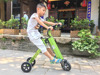 Electric folding bicycle 3 wheel folding electric scooter with seat for Children