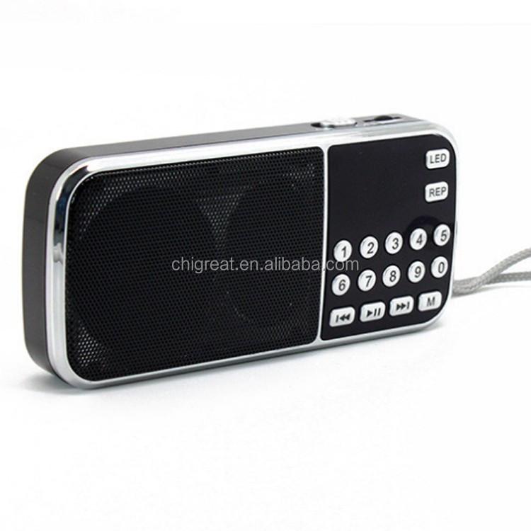 Wholesale L-088 Am Fm Portable Mini Speaker Led Fm Radio Mp3 ...