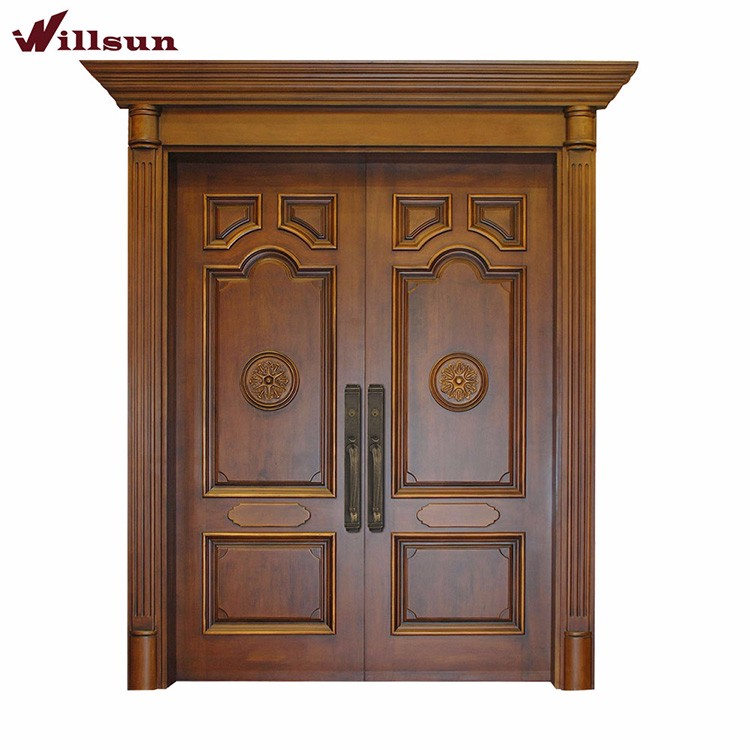 wooden double door designs for home  | 1024 x 1002