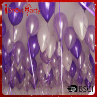 10 Inch White & Light Purple Helium Balloons for Party Decoration 100 Pcs/lot Big Balloons For Sale