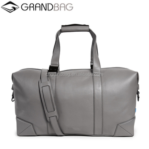 best selling genuine leather garment weekender bag travel duffle bag for men