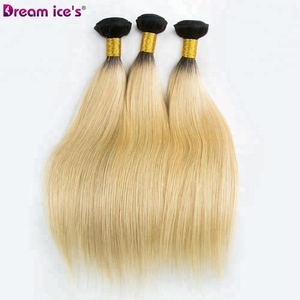 Dream.Ice's Hair Wholesale Price Silky Straight 100% Remy Color 613 Blonde Indian Virgin Hair
