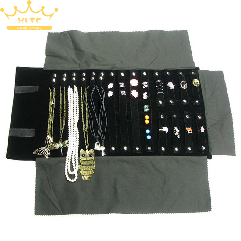 Free Shipping Velvet Jewelry Display Roll Bag Travel