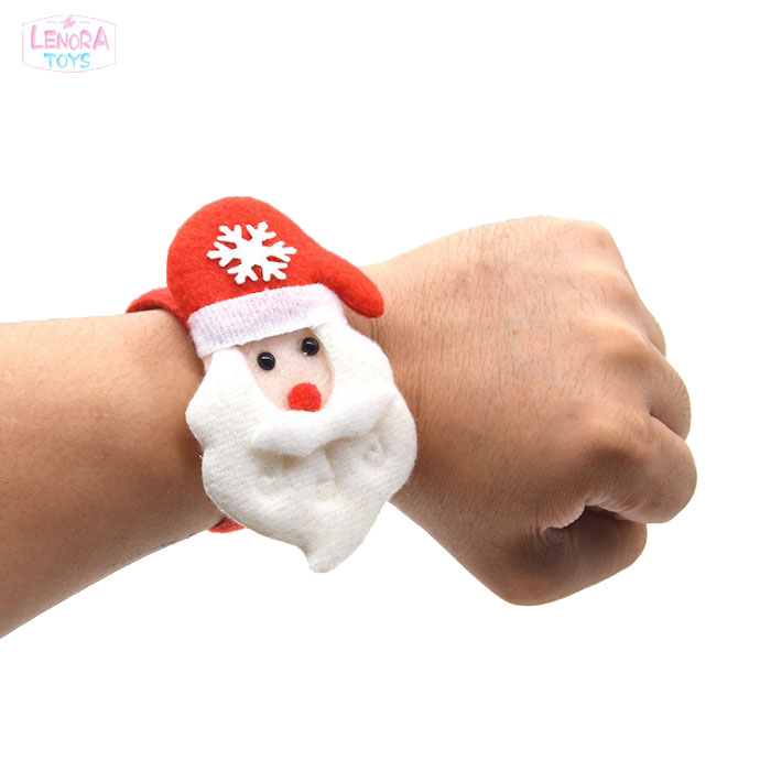 Christmas Slap Bracelet Bangle pat hand ring  Christmas decorations Christmas tree pat ring Children's hand buckle pat ring