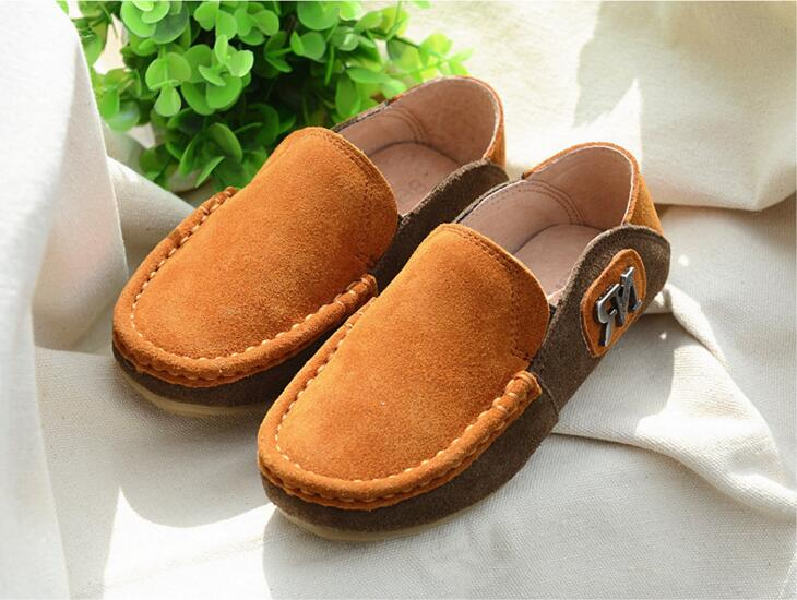 2016 Spring Eur21-35 Super Quality Chaussure Enfant Children Genuine Leather  Male Kids Shoes, Boy Baby Leisure Shoes . - us310 99ef94fe2c