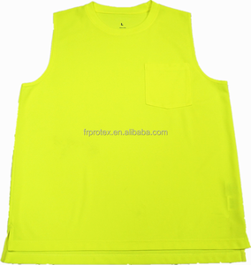 Hi Vis Moisture Wicking Quick Dry Sleeveless Work Vest Night Running Sporting T shirt