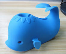 whale fish Plastic baby silicone bath spout cover
