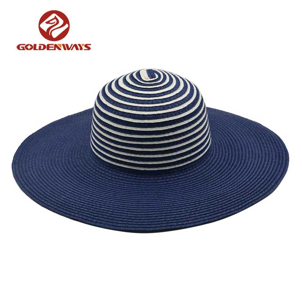 wholesale high quality goldenway summer cheap straw beach hat