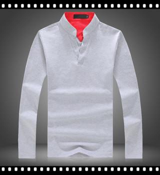hombre Camisa Para Algodón Hombre Buy Cuello Sin De Camisa V Larga Manga Polo UqVGSMpz