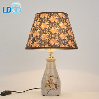 Langde Hot Wireless Ceramic Usb Dimmable Led Battery Operated Table Lamp With
