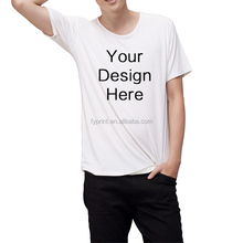Custom printed white short sleeve t shirts with man clothes