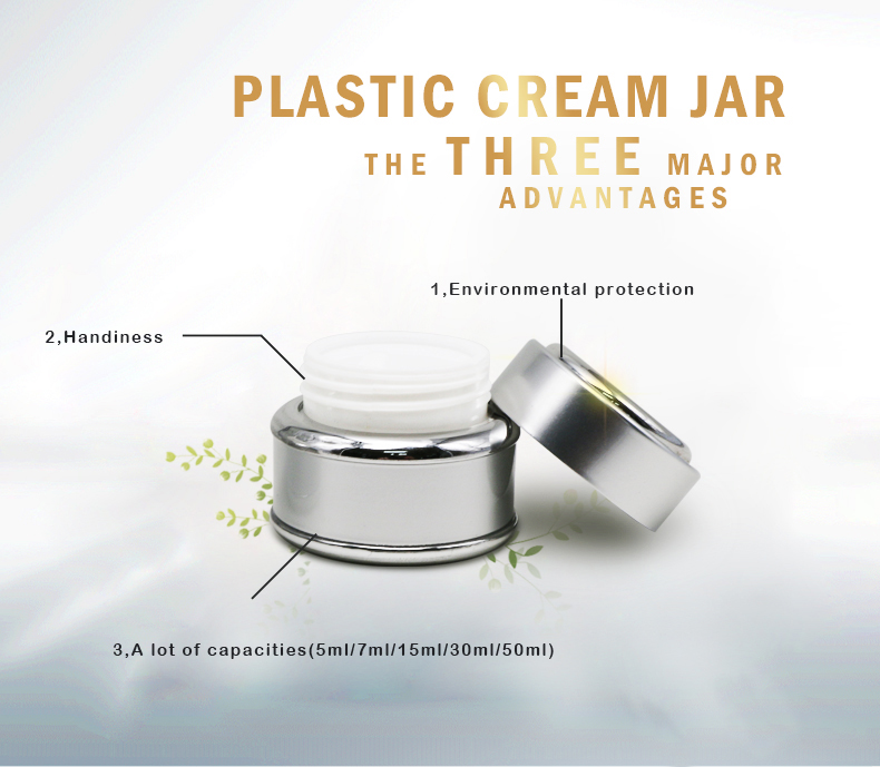 New design luxury white plastic jar 5ml 7ml 15ml 30ml 50ml with high quality