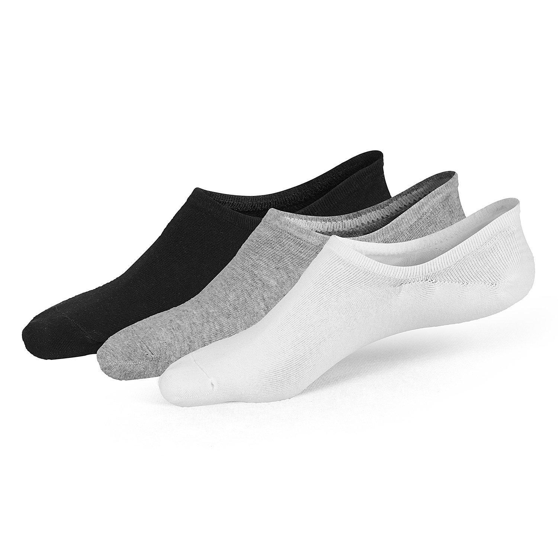La Volupte Mens No Show Low Cut Socks Non Slip Breathable Cotton Causal Ankle Socks 3/8 pairs