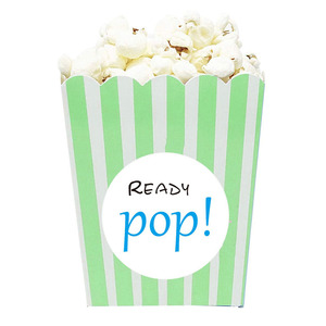 Ready to Pop Stickers Pop Popcorn Stickers Round Sealing Labels for Invitation Envelopes
