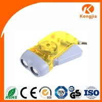 Portable Emergency Light ABS Dynamo Hand Torch Crank Flashlight