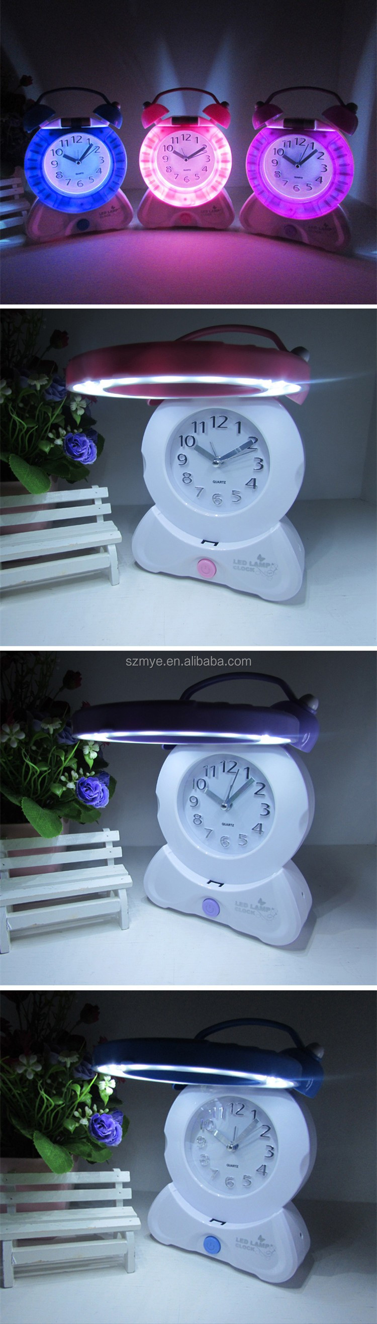 Led snooze morning call alarm clock touch wall mounted led reading led snooze morning call alarm clock touch wall mounted led reading desk lamp light amipublicfo Image collections