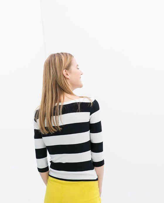 Rock! Женщины t рубашка премиум полоска принт свободного покроя пуловер черный белый заплатанные цвет