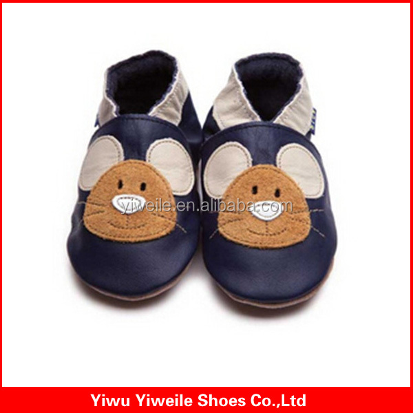 new model 2014 china soft leather indoor newborn toddler baby shoes