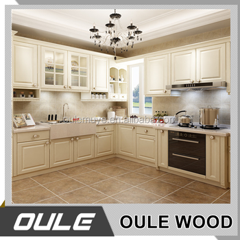 Classic Style Wooden Kitchen Furniture Exquisite Solid Wood Carved