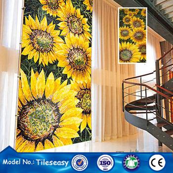 simples fácil livre mosaico flor padrão de desenho de projeto para