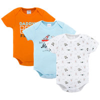 Promotional Factory Baby Clothes Summer 100%Cotton Short Sleeves with Prints Newborn Infant Baby Bodysuits Rompers