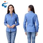 Low price of wholesale jacquard fashion comfortable office long sleeve blouse ladies