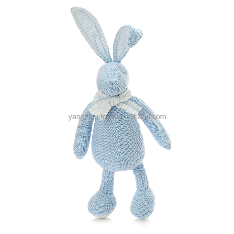 ITCI certificate blue bunny stuff toy rabbit soft toy in standing