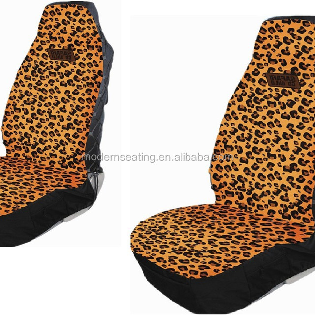 Leopard Printing Car Seat Cover Made Of 100 Polyester Universal For Most Front