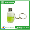 Cheap oem PVC beer bottle shape key chain usb flash drives with logo