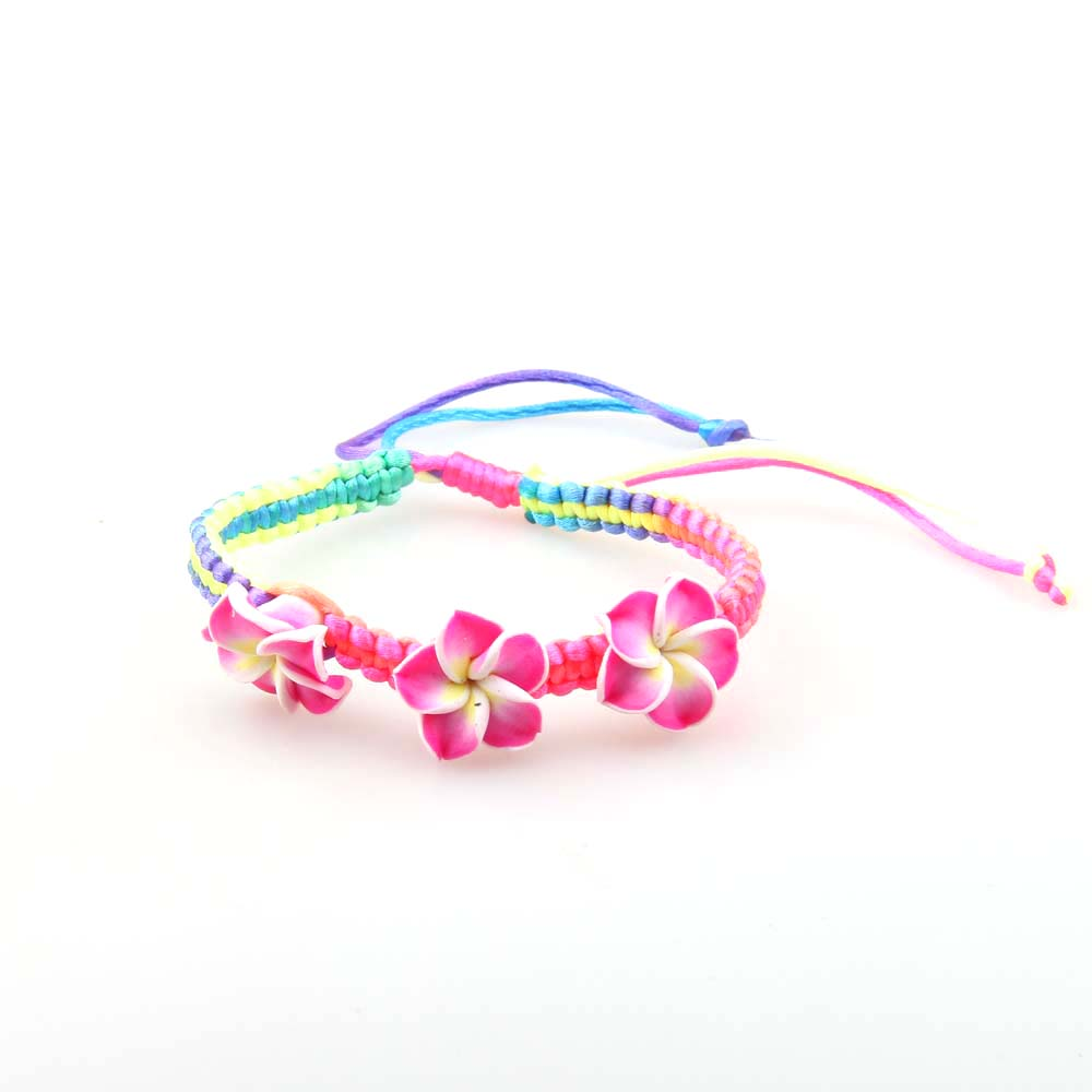 Manufacturer Wholesale Clothing Accessories Jewelry Bracelet Colorful Flower Bracelet, As show (customize colors are available)