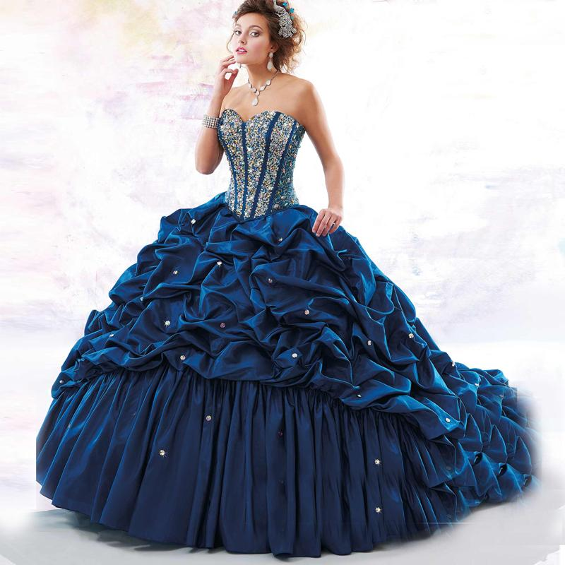Navy Blue Quinceanera Dresses Red Masquerade Ball Gowns ...