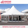 Aluminum alloy frame PVC coated Hexagon Pagoda tent with Glass Panel wall