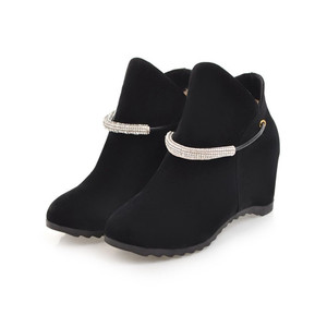 Hot Sale Casual Ladies Ankle Boots New Fashion Cheap Price Wedge Heel Short Boots Shoes