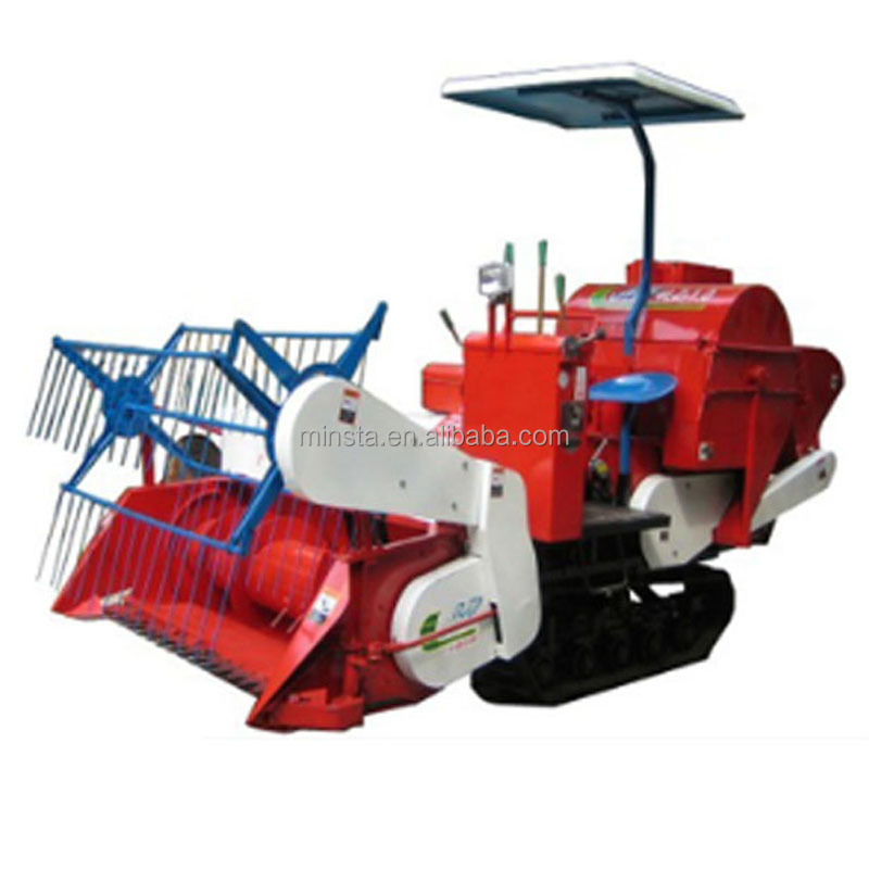 China factory price mini wheat rice soybean grain harvest machine mini wheat rice combine harvester