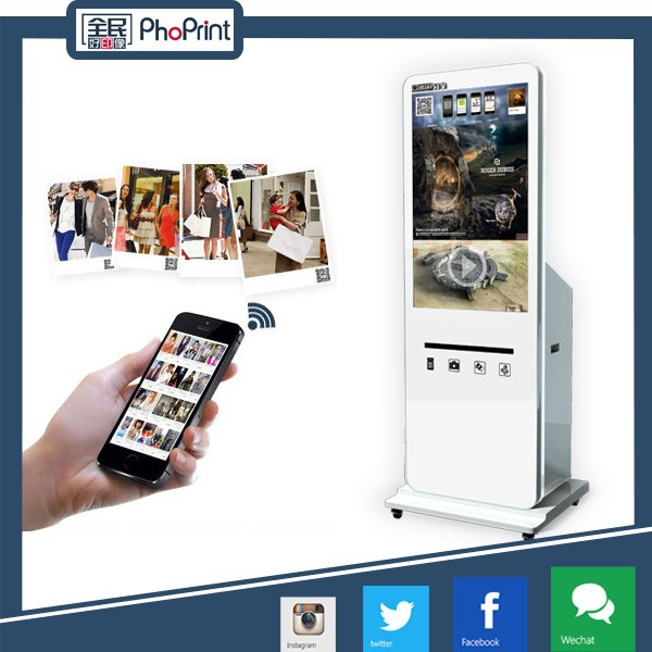 "42"" free standing advertising display video picture out door advertisement machine foto kiosk"