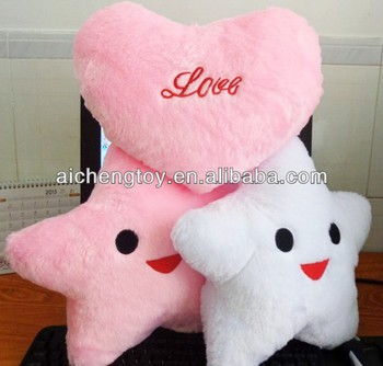 Supply Oem Plush Five Star And Heart Shape Pillow Cushion