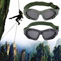 Tactical Outdoor Steel Mesh Eyes Protective Goggles Glasses Eyewear free shipping