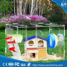 Acrylic Hamster Cages Single Layer Mice Mouse Castle Rat Habbit House