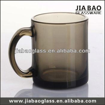 11oz Smoke Gray Glass Mug For Coffee Tea Beer Buy Color Changing Coffee Mug Handle Glass Cup