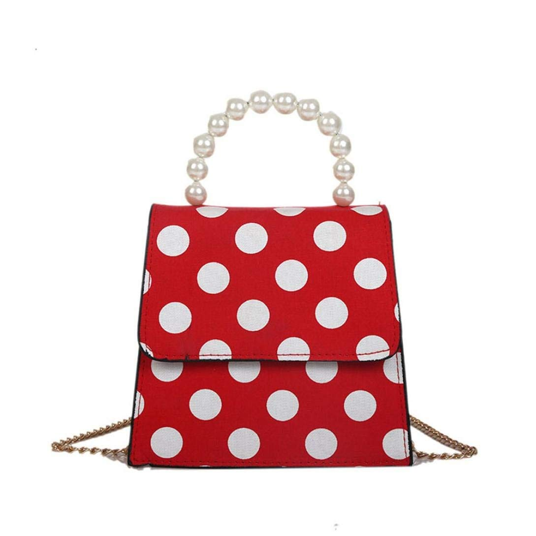 93cc32a0976 Get Quotations · Dot Printed Pearl Crossbody Bag Fashion Womens Shoulder  Bag Purse and Handbags for Women Girls