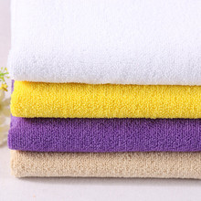 stock high quality 100% polyester weft toweling stretch terry fabrics
