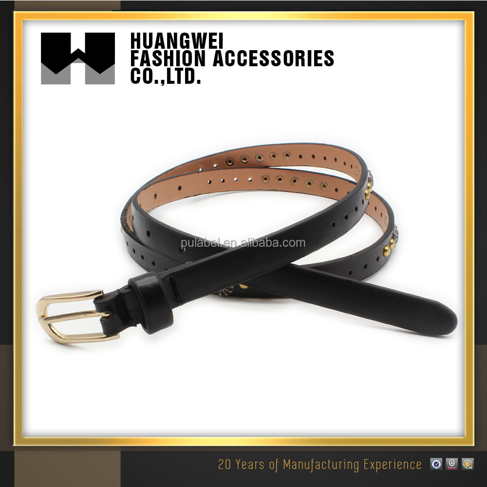 Fashion genuine leather elastic belts for women
