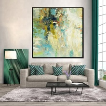 Newest Design Acrylic Wall Decor Abstract Artwork Canvas Oil Painting for Living Room