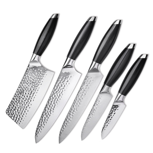 Professional 5pcs Knife Set 440C Stainless Steel Kitchen Knives Set