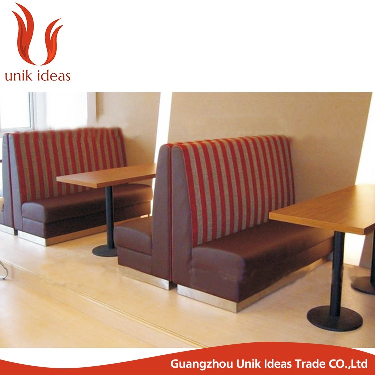 Commercial Use Double Side Restaurant Booth Seating Fast