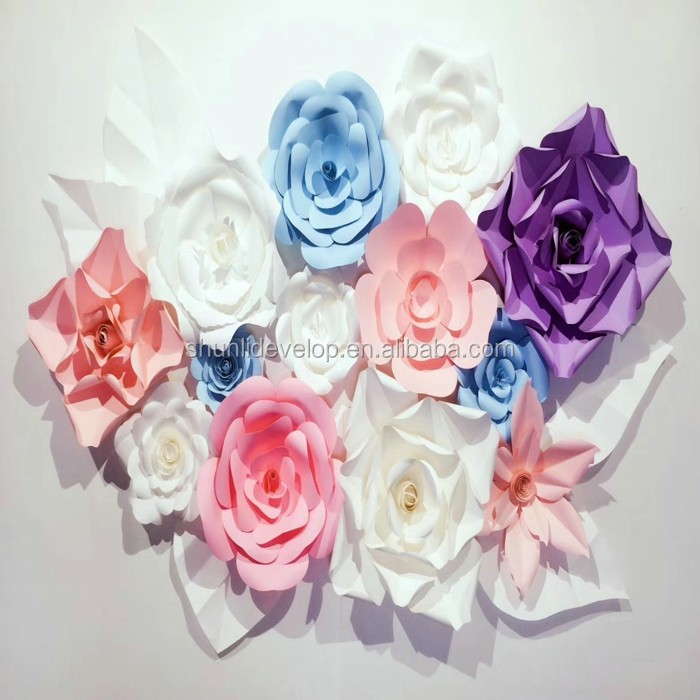 Big Wall Flower Paper Flower Decorations Backdrop Buy Big Paper Flower Decorations Wall Flower Paper Foam Paper Flower Backdrop Product On