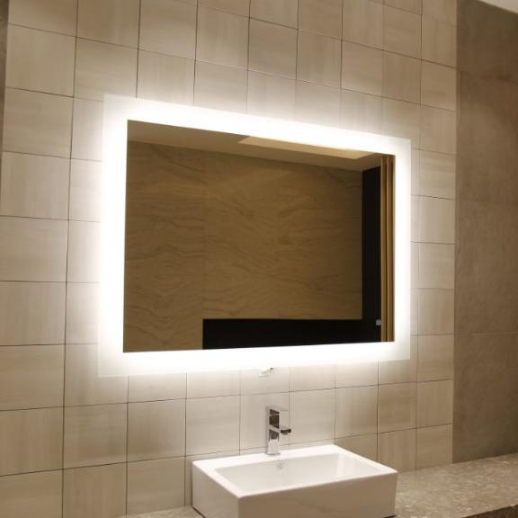 Frameless Led Lighted Hotel Luxury